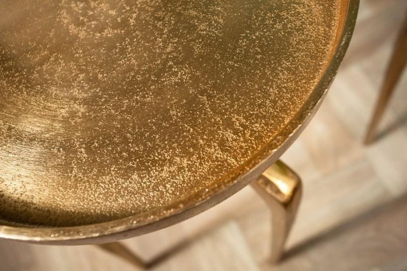 INVICTA zestaw stolików ABSTRACT złote - metal, aluminium