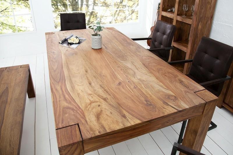 INVICTA stół MAKASSAR 160cm sheesham - lite dewno palisander