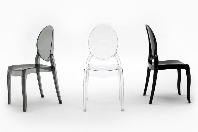Krzesło ELIZABETH czarne - poliwęglan