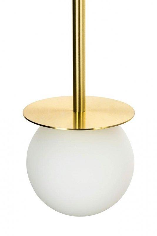 Lampa wisząca CANNON LINE 23 złota - mosiądz, szkło