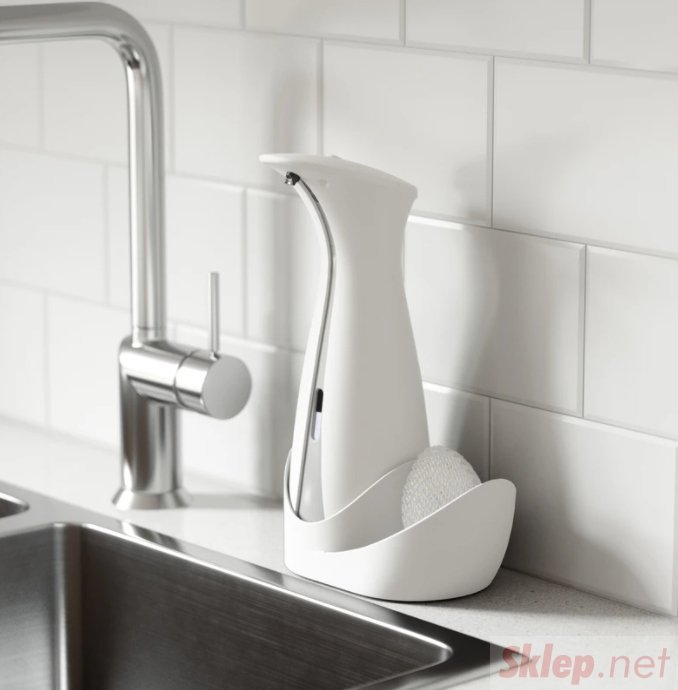 UMBRA dozownik do mydła OTTO CADDY z pojemnikiem na gąbke - biały