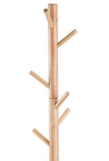 ACTONA wieszak BREMEN naturalny - drewno lakierowane