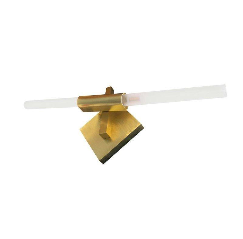 Kinkiet CANDELABR WALL złoty - aluminium, szkło