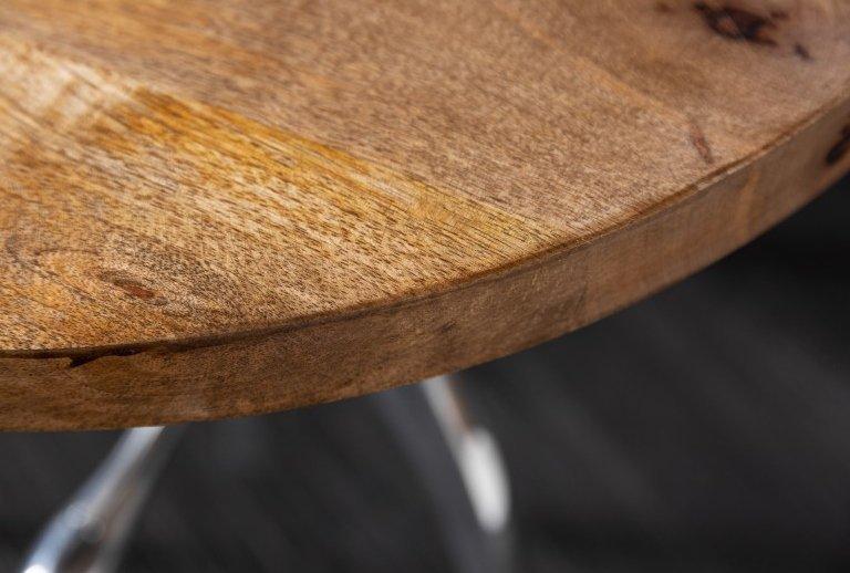 INVICTA stolik INDUSTRIAL 45-62 cm Mango - drewno naturalne mango, metal