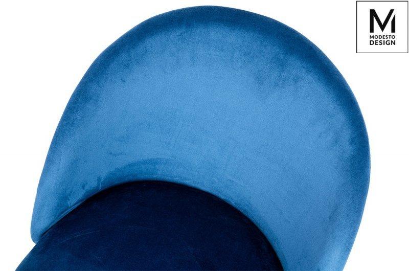 MODESTO krzesło NICOLE ciemny niebieski - welur, metal