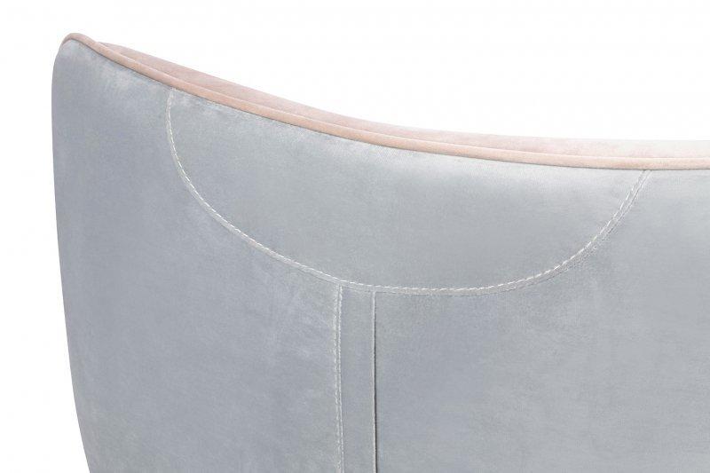 Fotel VIGO VELVET jasny szary, welur beżowy - podstawa czarna