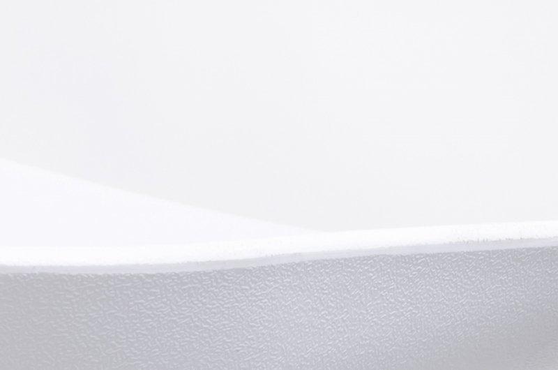 Hoker STALLO biały - polipropylen, podstawa bukowa
