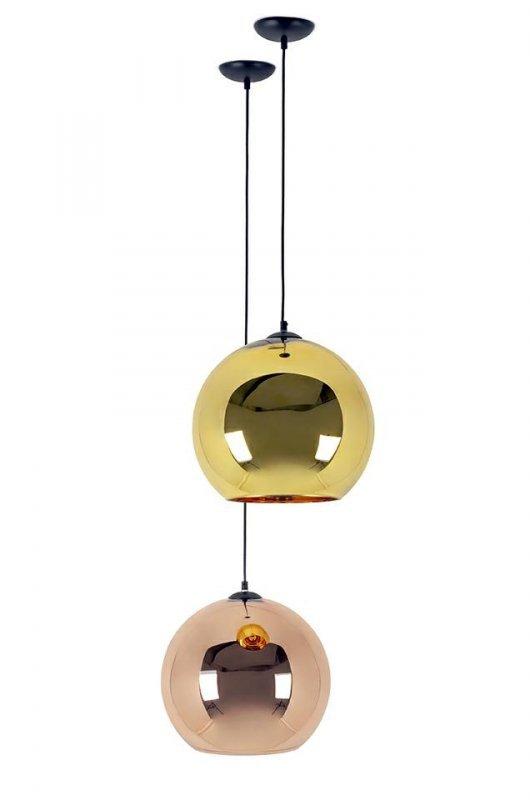 Lampa wisząca BOLLA UP ROSE GOLD 40 - szkło metalizowane