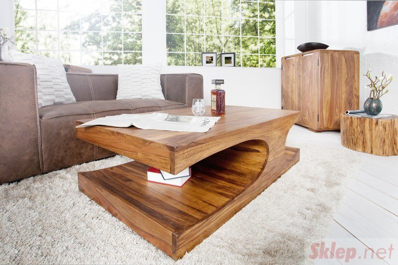INVICTA stolik kawowy GOA 120 cm Sheesham - lite drewno palisander