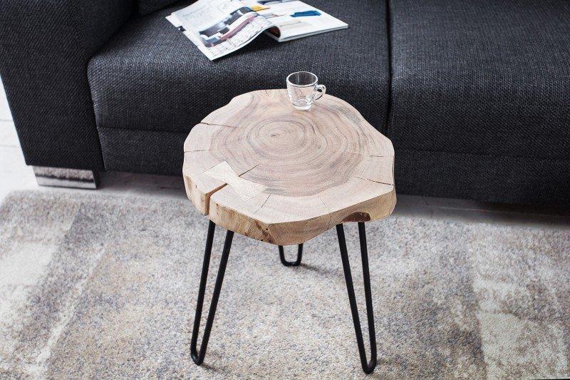 INVICTA stolik GOA II 40 cm akacja - lite drewno akacjowe