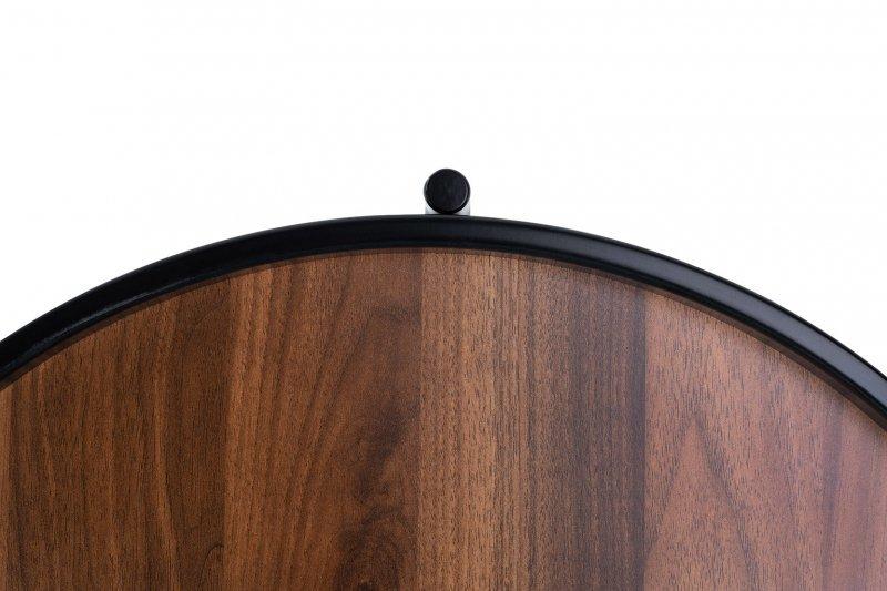 Stolik TOBY ciemny orzech - MDF, metal