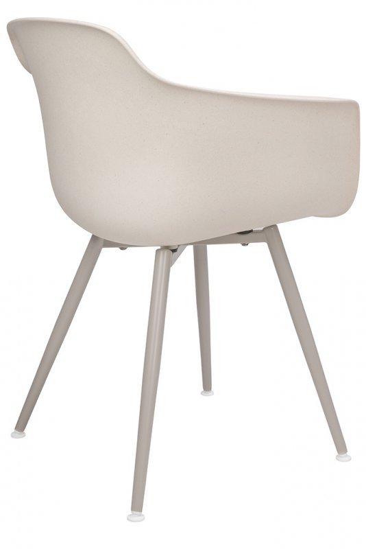 Krzesło ECMO beżowe - polipropylen, WPC