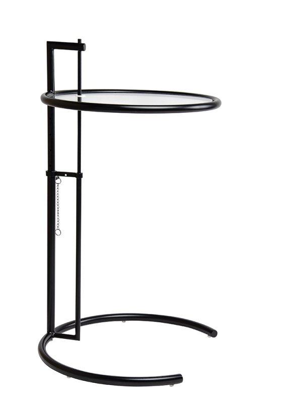Stolik GREY czarny - metal, szkło