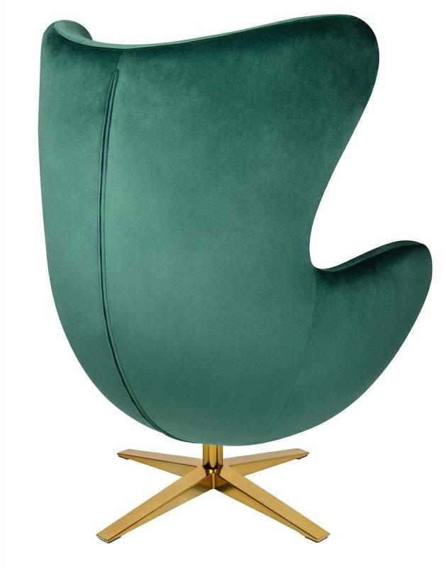 Fotel EGG SZEROKI VELVET GOLD ciemny zielony.18 - welur, podstawa złota