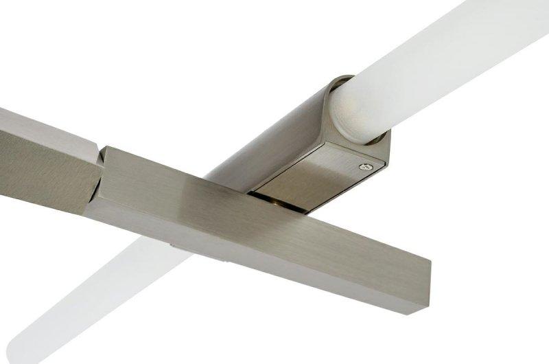 Lampa wisząca CANDELABR PREMIUM 10  srebrna - aluminium, szkło