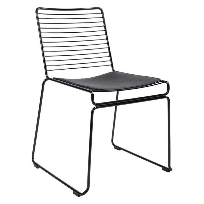 Krzesło ROD SOFT czarne - czarna poduszka, metal