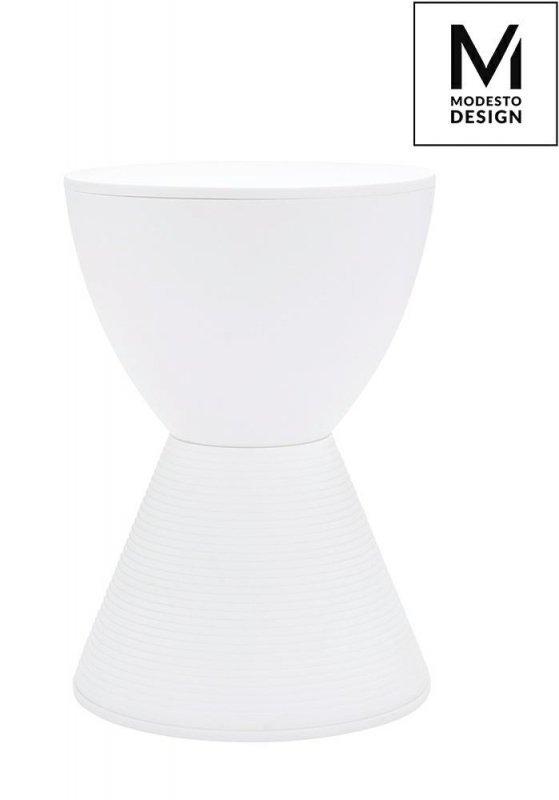 MODESTO stołek TAMBURO biały - polipropylen