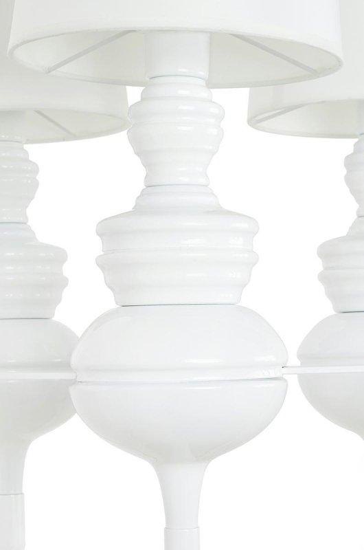 Lampa wisząca QUEEN 3 biała