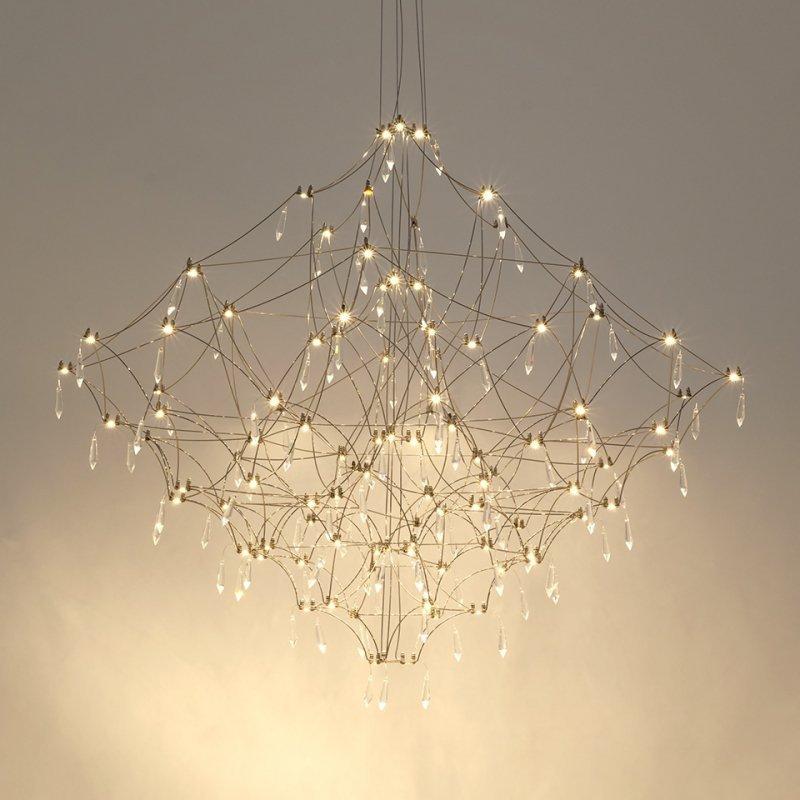 Lampa wisząca CONSTELATION 77 - LED, stal szczotkowana