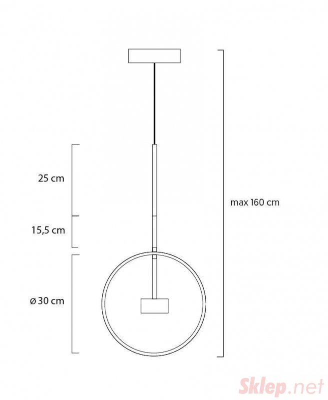 Lampa wisząca CAPRI złota - LED, aluminium, szkło