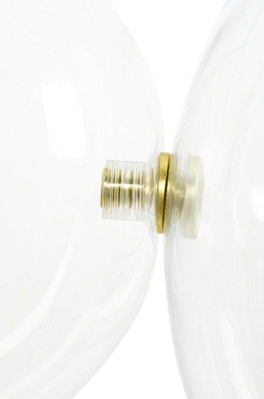 Lampa wisząca CAPRI DISC 3 złota - 180 LED, aluminium, szkło