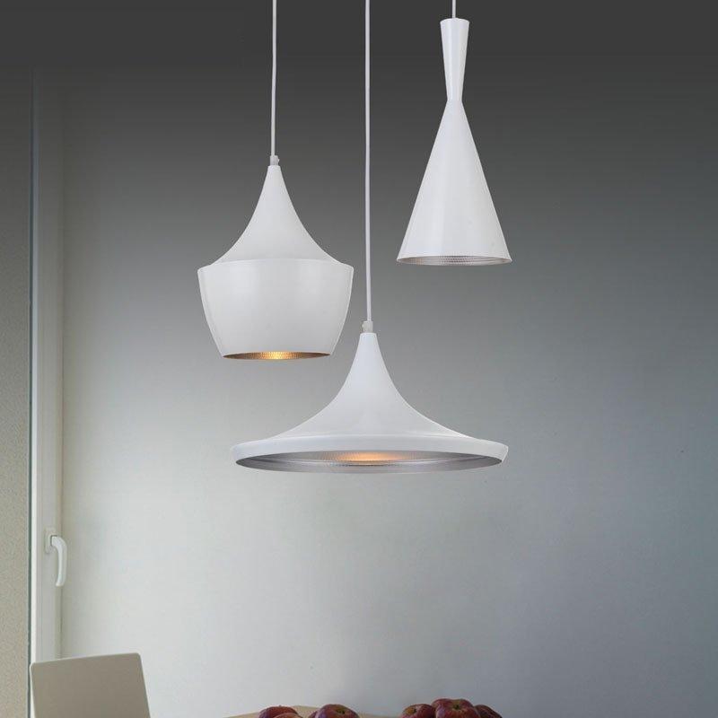 Lampa wisząca BET SHADE TALL biała - środek srebrny