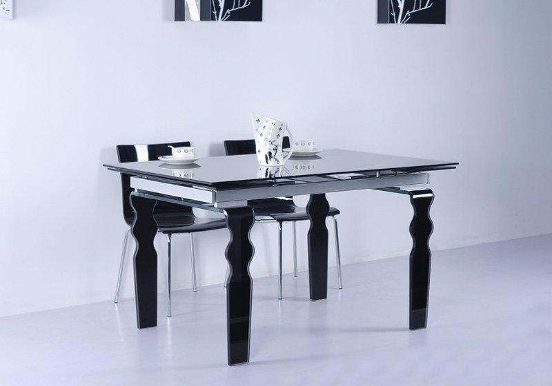 Stół szklany VENDOME BLACK 200/300