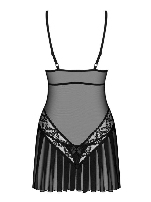 Bielizna-837-CHE-1 koszulka i stringi L/XL