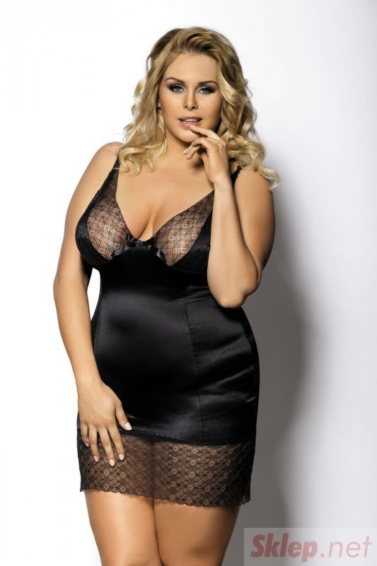 ENFIA black chemise L+ ( czarna halka )