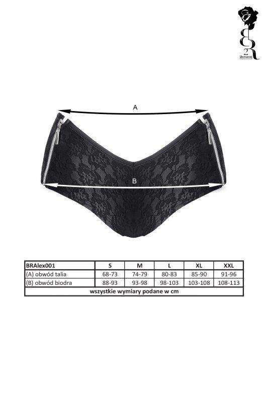 Bielizna - BRALEX001 szorty czarne rozmiar S