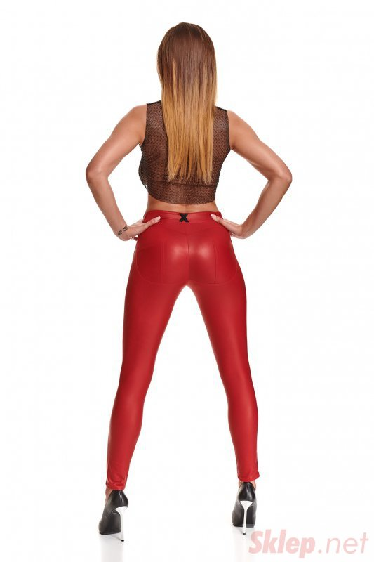 Bielizna - BRLIDIA001 legginsy czerwone rozmiar XXL