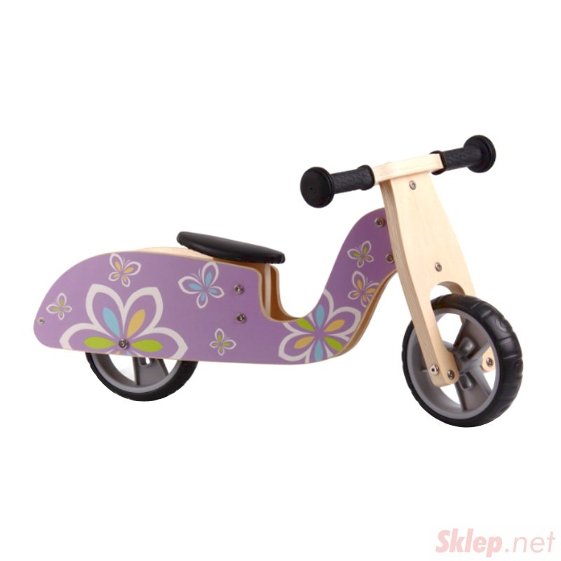 Drewniany rowerek rower biegowy balansowy skuter koła EVA