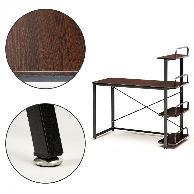 Biurko komputerowe biurowe stół + regał półki loft