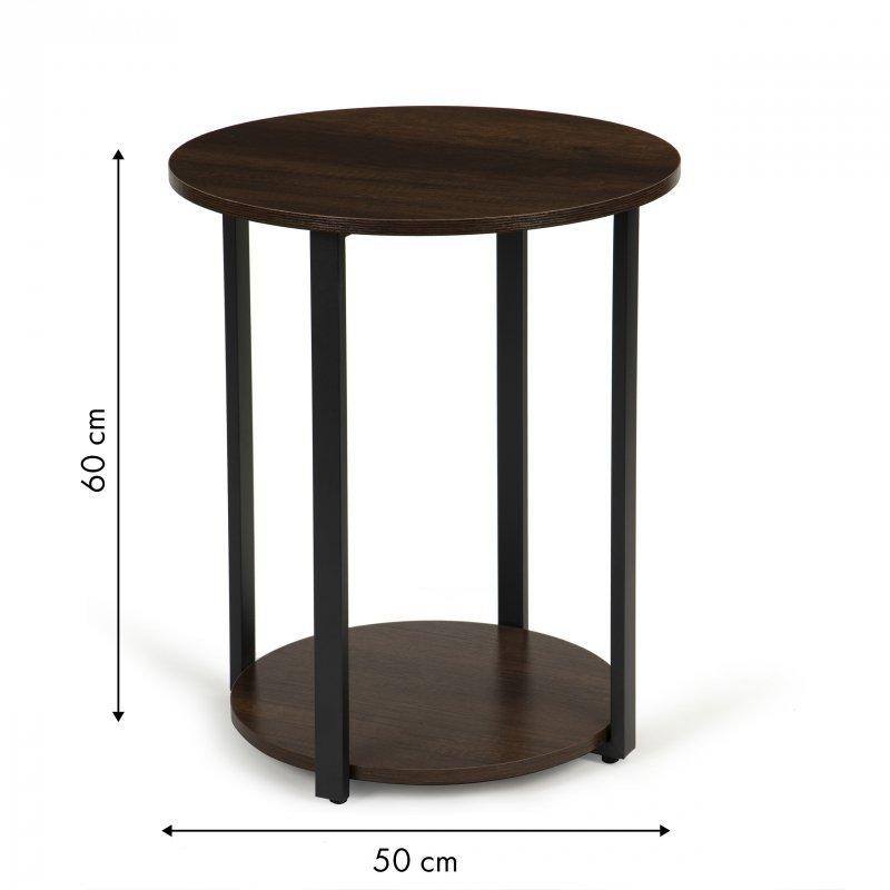 Stolik stół kawowy okrągły ława szafka nocna loft