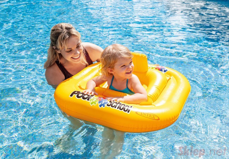 Koło do Nauki Pływania Fotelik Oparcie Intex 56587