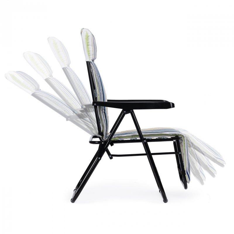 Leżak fotel ogrodowy składany plażowy regulowany