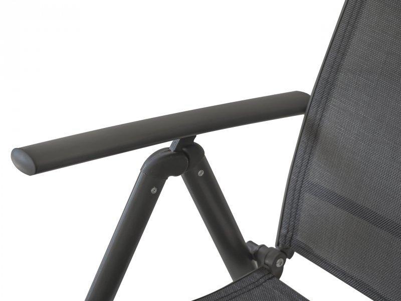 Krzesło ogrodowe składane regulowane taras balkon