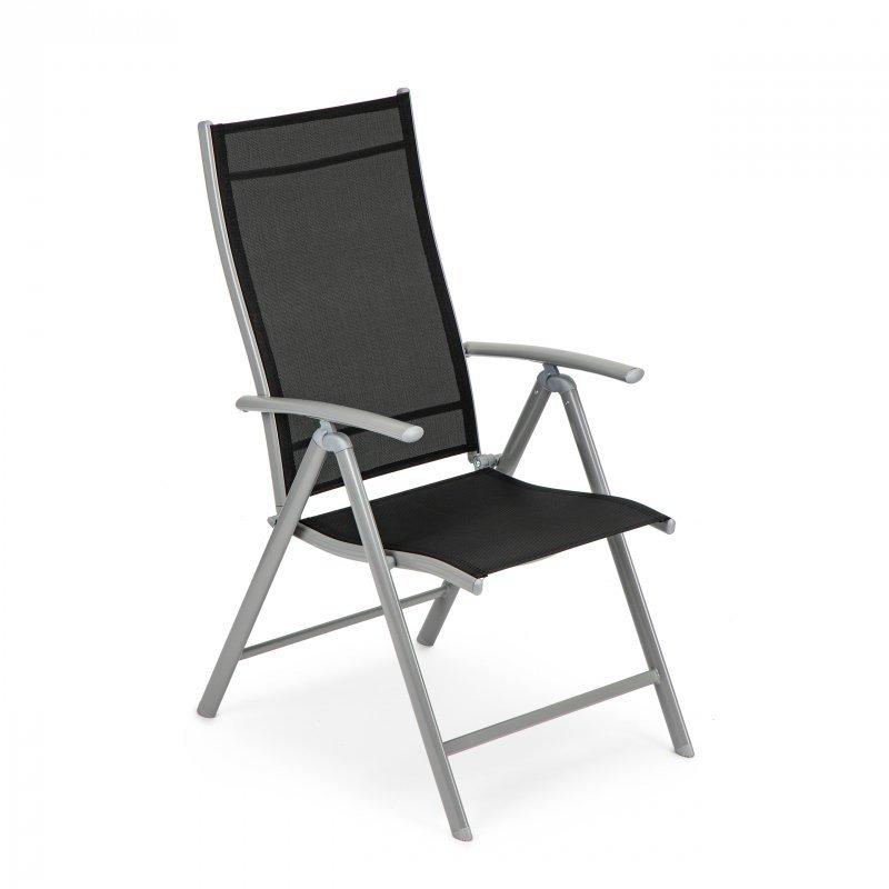 Krzesło ogrodowe składane metalowe regulacja taras