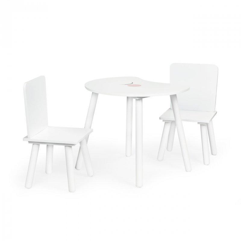 Stół stolik +2 krzesła meble dla dzieci komplet Ecotoys