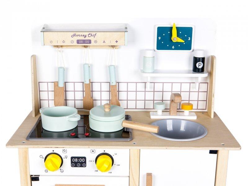 Drewniana kuchnia z dźwiękami Ecotoys