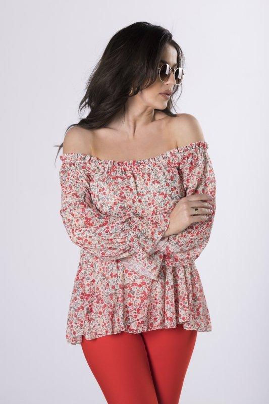 bluzka z dekoltem carmen