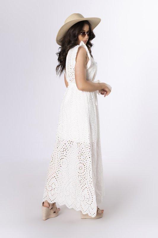 sukienka maxi z haftem angielskim