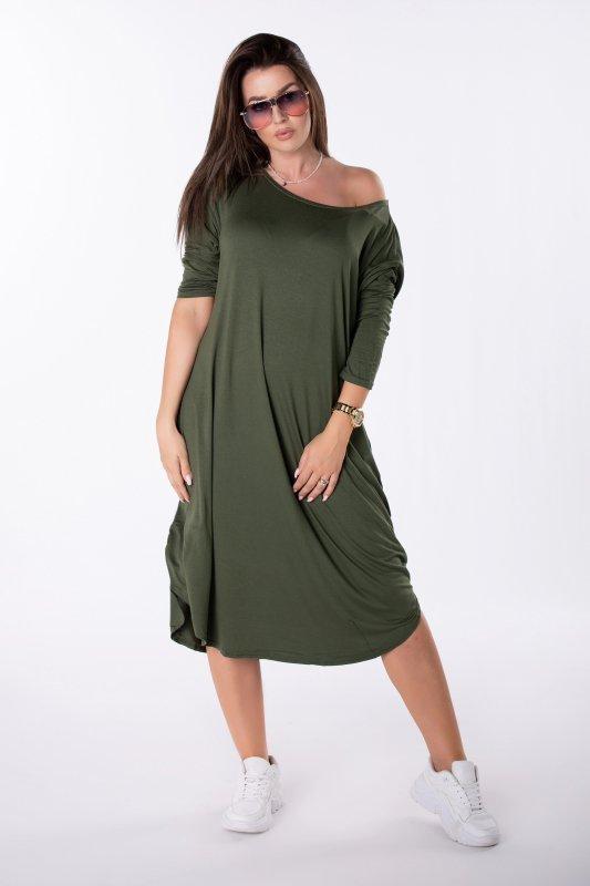 sukienka midi oversize