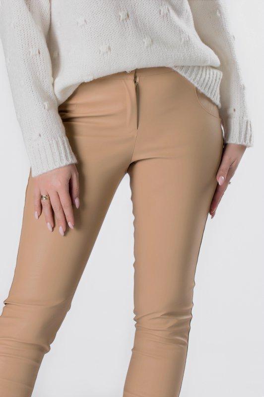 spodnie z ekoskóry