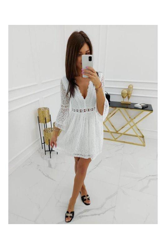 Sukienka Elisa Lace DX6223-53 White