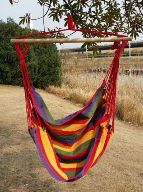 AG233C Krzesło wiszące 120kg red/green