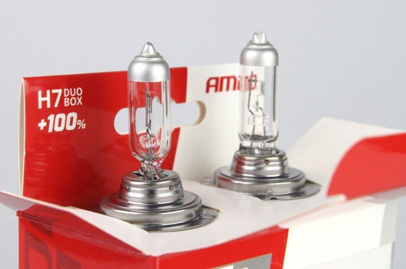01403 Zestaw żarówek halogenowych H7 12V 55W LumiTec Silver +100% Duo Box