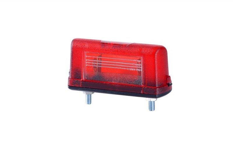 Lampa oświetlenia tablicy rejestracyjnej uniwersalna mała czerwona (2szt)