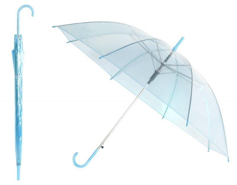 BQ13B Parasol przezroczysty niebieski