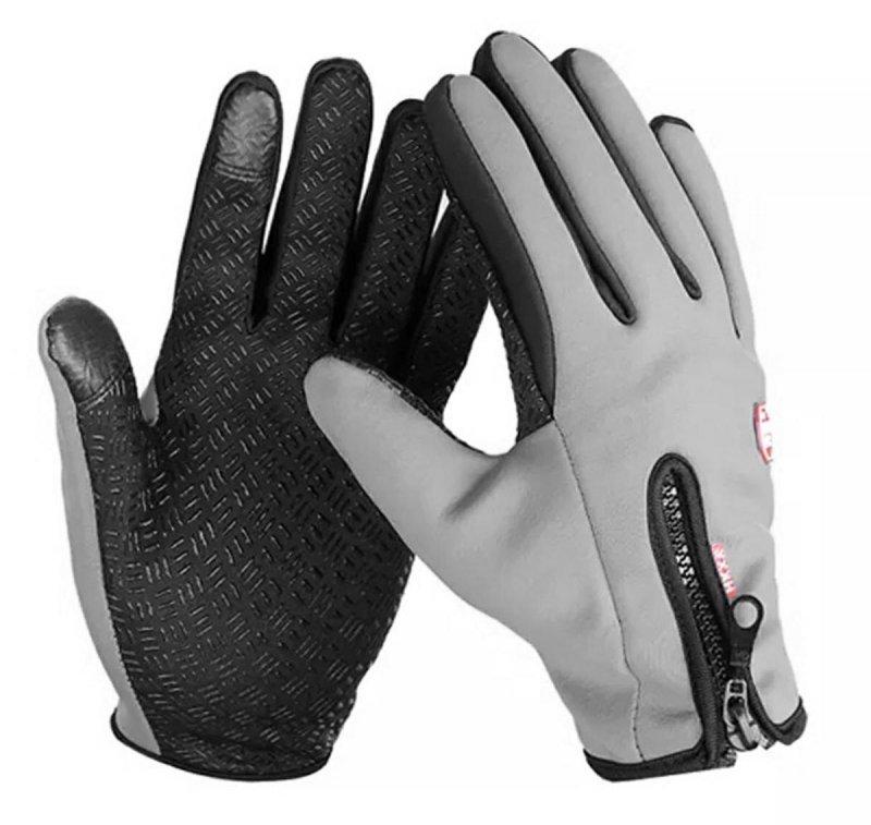 BQ19M Rękawiczki sport xxl dotyk grey